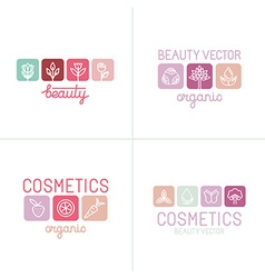 set of icons and logo design templates vector image vector image