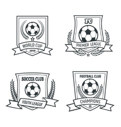 Soccer and football emblem set vector