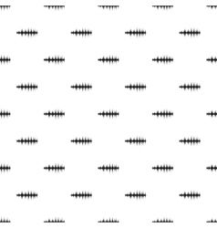 Sound wave pattern simple style vector