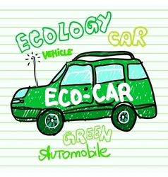 Green ecology car vector image