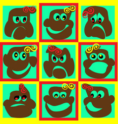 Funny faces vector