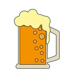 Beer glass design vector