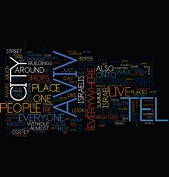 Tel aviv text background word cloud concept vector