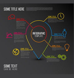 Infographic report location template made from vector