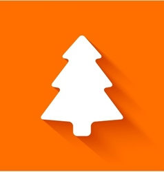 Abstract christmas tree on orange background vector image
