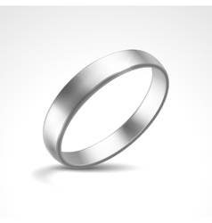 Silver ring vector