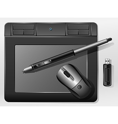 Graphic tablet vector