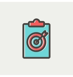 Business and finance target thin line icon vector