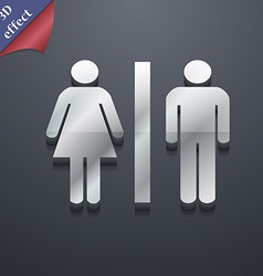 Silhouette of a man and a woman icon symbol 3d vector