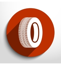 Tyre web icon vector