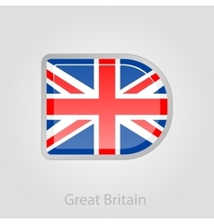 United kingdom flag button vector