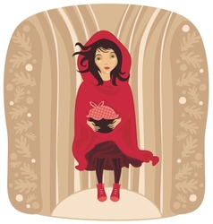 Red riding hood vector