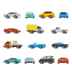 Vehicles Icons Set vector image