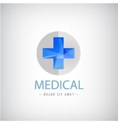 Medical logo blue cross logo isolated vector