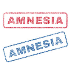 Amnesia textile stamps vector