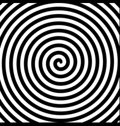 black and white hypnosis spiral vector image vector image