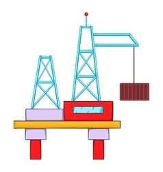 Building crane icon flat style vector
