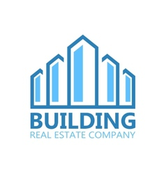 Building logo or symbol icon vector image