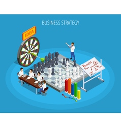 Business planning isometric template vector