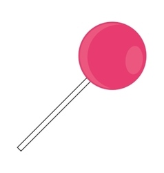 candy lollipop icon vector image vector image