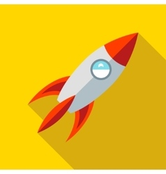 Children s toy rocket on a yellow background vector image