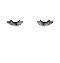 Closed eyes with eyelashes vector
