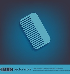 Comb barbershop symbol of hair and beauty salon vector