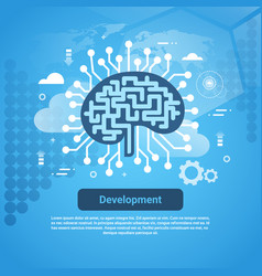 development new idea concept web banner with copy vector image vector image