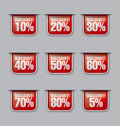 Discount labels and tags vector
