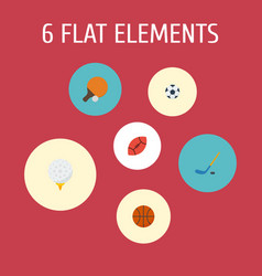 Flat icons table tennis ball golf and other vector