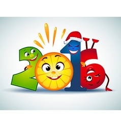 Funny symbol of the new year vector