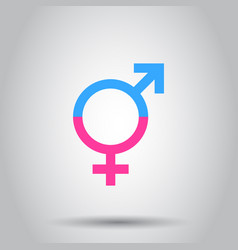 Gender equal icon on isolated background business vector