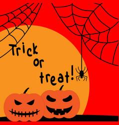 halloween spider pumpkin sign with sun 109 vector image