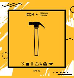 Hammer symbol icon vector
