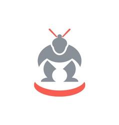 Japanese sumo wrestler front vector