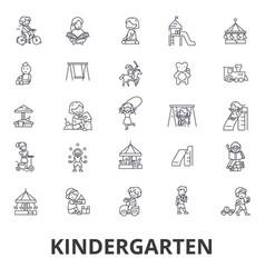Kindergarten preschool teacher nursery vector