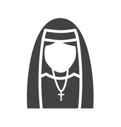 Lady in nun dress vector