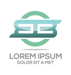 lettering bb lettermark design vector image vector image