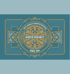 liquor label western style vector image vector image