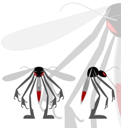 mean mosquito vector image
