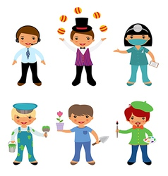 Professional occupations 4 vector image