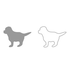 puppy it is icon vector image vector image