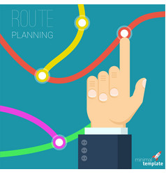 Route planning concept vector