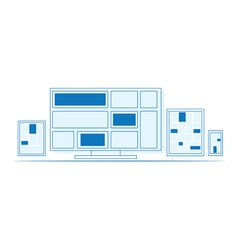 Set of outline design electronics vector image vector image