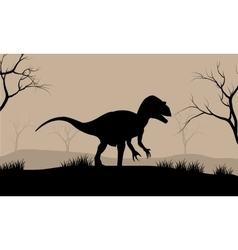 Silhouette of Tyrannosaurus vector image vector image