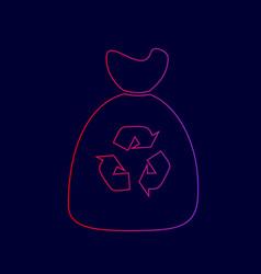 Trash bag icon line icon with gradient vector