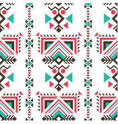 tribal ethnic ornaments seamless indian style vector image