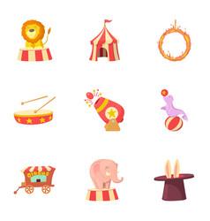 Tricks icons set cartoon style vector