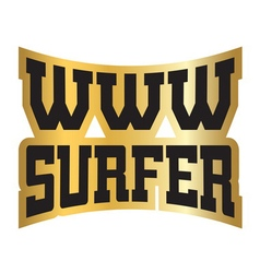 Www internet surfer typography graphics gold vector