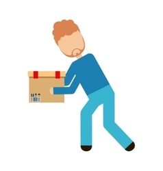 logistics worker delivery service vector image